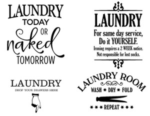 A: Laundry today B: Drop your draws C: Laundry Room D: Laundry services