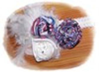 4th of July Rosette Headband