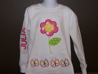 Rose flower with butterfly Custom shirt