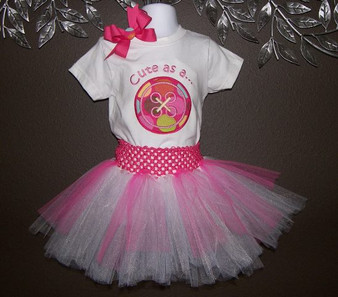 Cute as a button shirt with Tutu