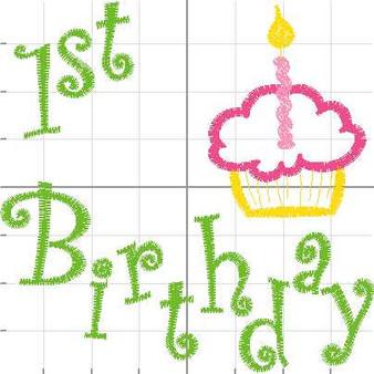 1st Birthday Cupcake 1
