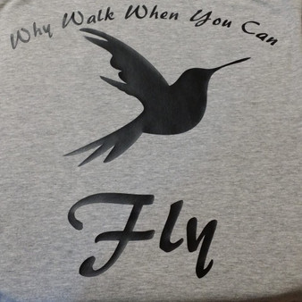 Why walk when you can fly shirt