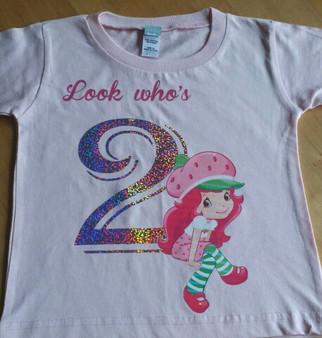 Look Who's Strawberry Shortcake Birthday Shirt