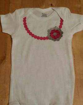 Necklace Flower Onesie or Shirt