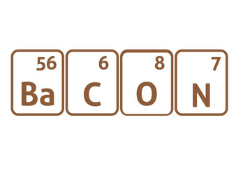 Bacon periodic shirt