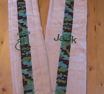 Camo Burp Cloth Set