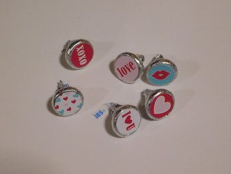 Valentines Kisses Stickers