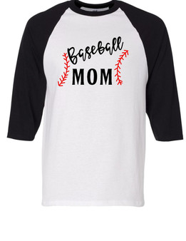 Mom Baseball with stitch