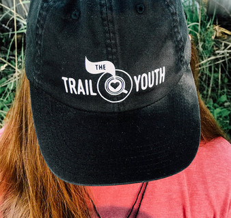 Classic Black Trail Youth Baseball Hat size L/XL