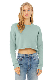 Bella and Canvas Crop  Crew Sweatshirt