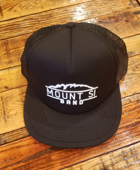 Band Flat Bill Snap Trucker Cap