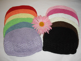 Beanie Crochet Hat with flower