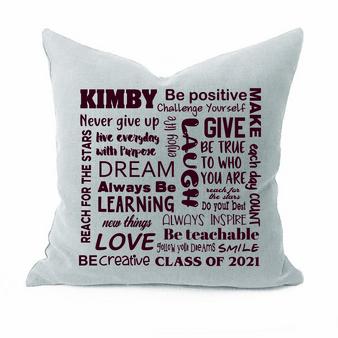 Graduation Name Pillow