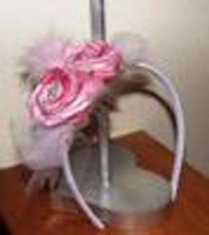 Vintage Chic Rosette Headband/ Bow