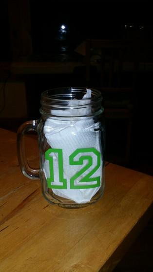Glass Mug with 12