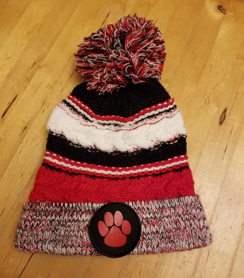 Cable Knit Beanie with patch
