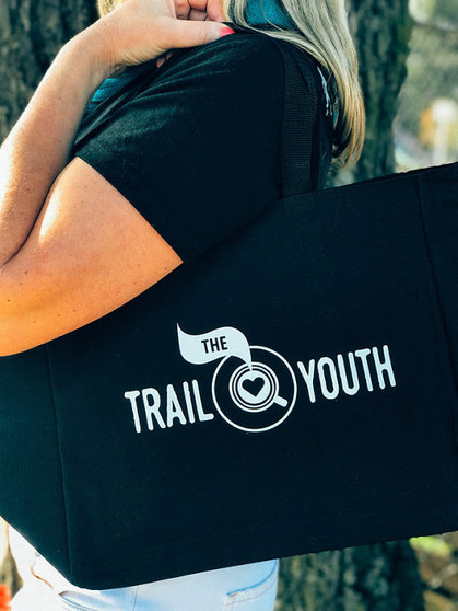 Trail Youth Daily Tote with Shoulder Length Handles and Outside Pockets