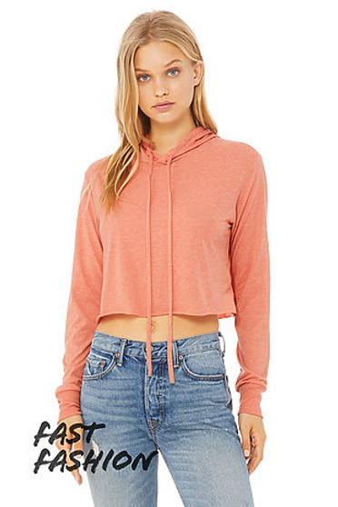 Bella and Canvas Crop Sweatshirt - Triblend