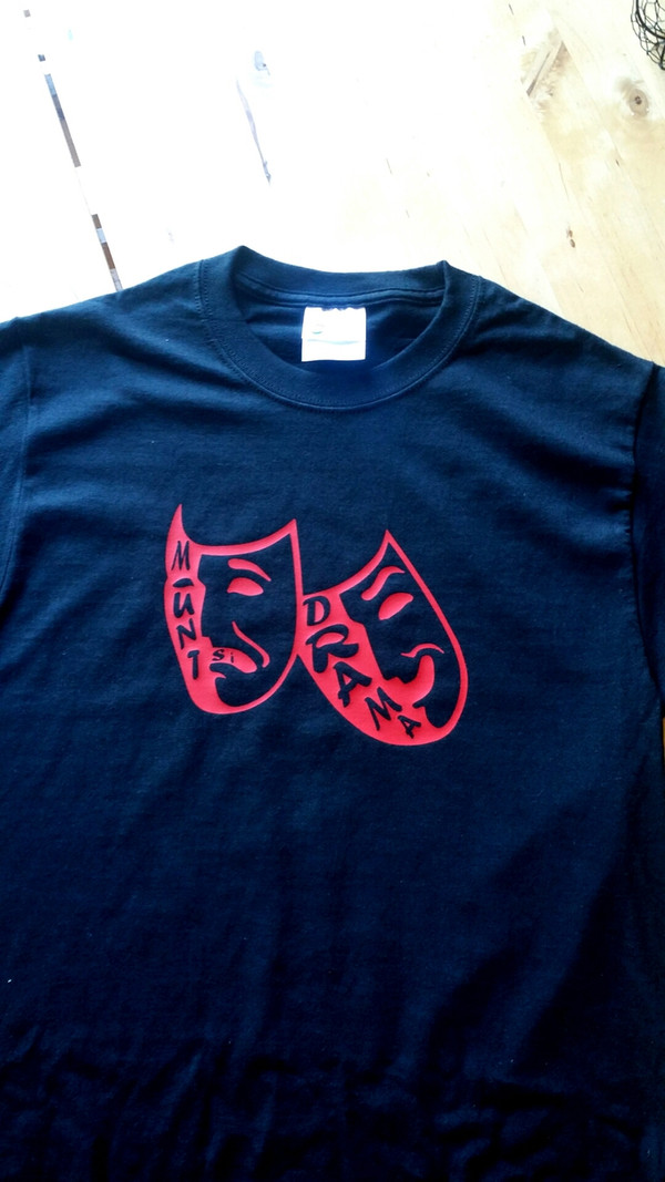 T shirts: Available in black, red, gray and white