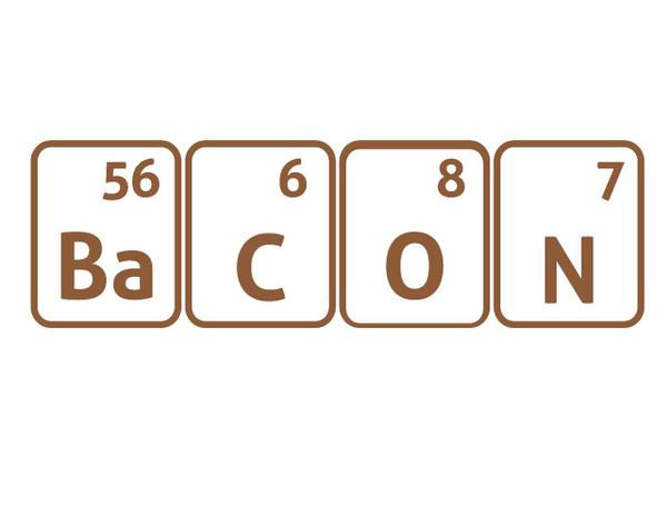 Bacon periodic shirt