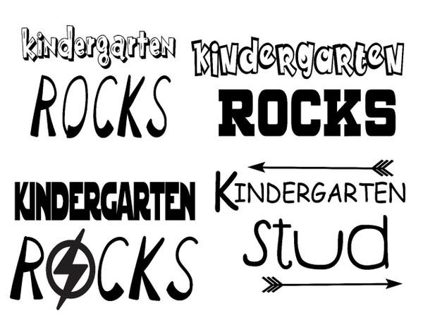 Kindergarten Rocks and Stud Shirt