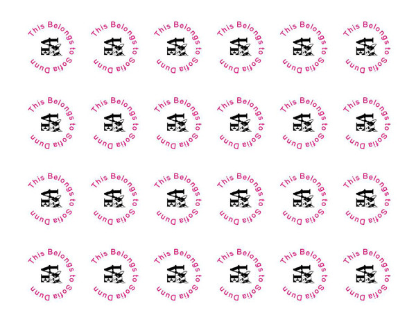 Water Proof Vinyl labels  Round