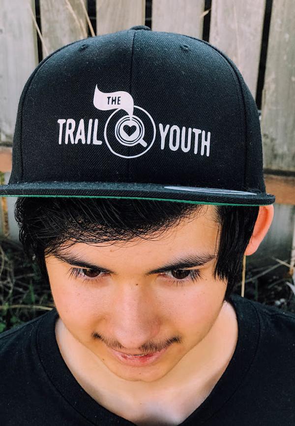 Trail Youth Snapback Hat- Black