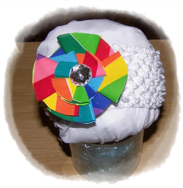 Pinwheel Rainbow Bow