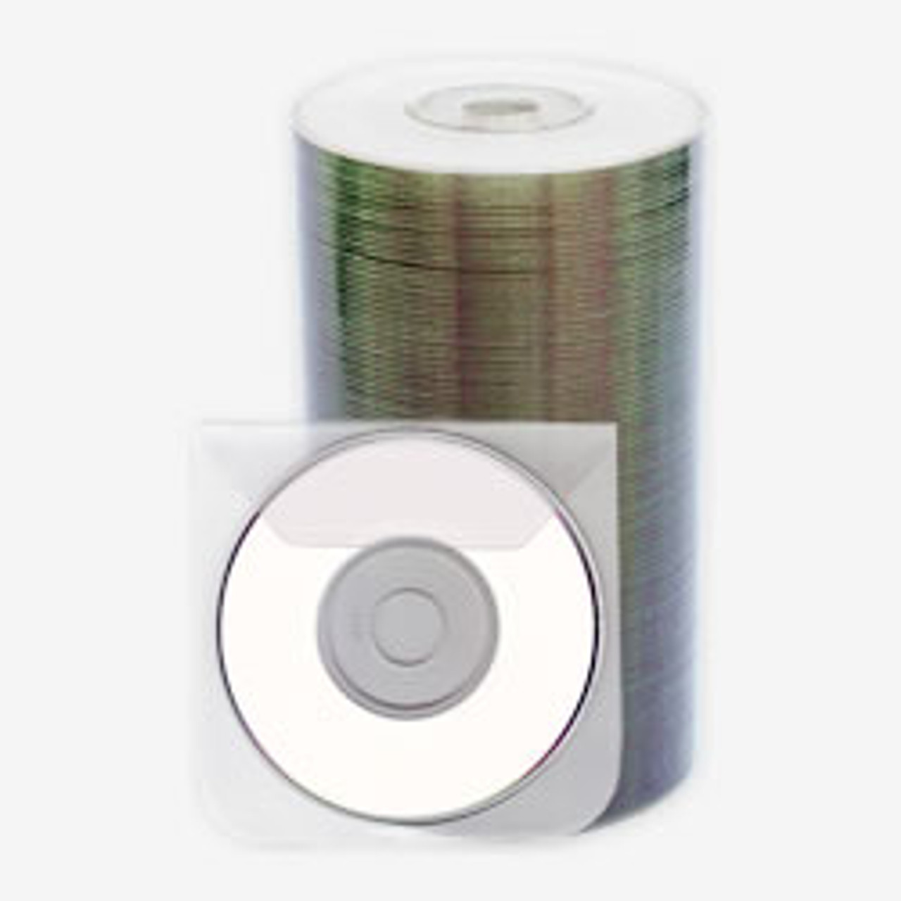 image about Printable Dvd Disc referred to as Intact Mini DVD-R 1.4GB Whitetop Printable 50personal computers Spindle with Sleeves