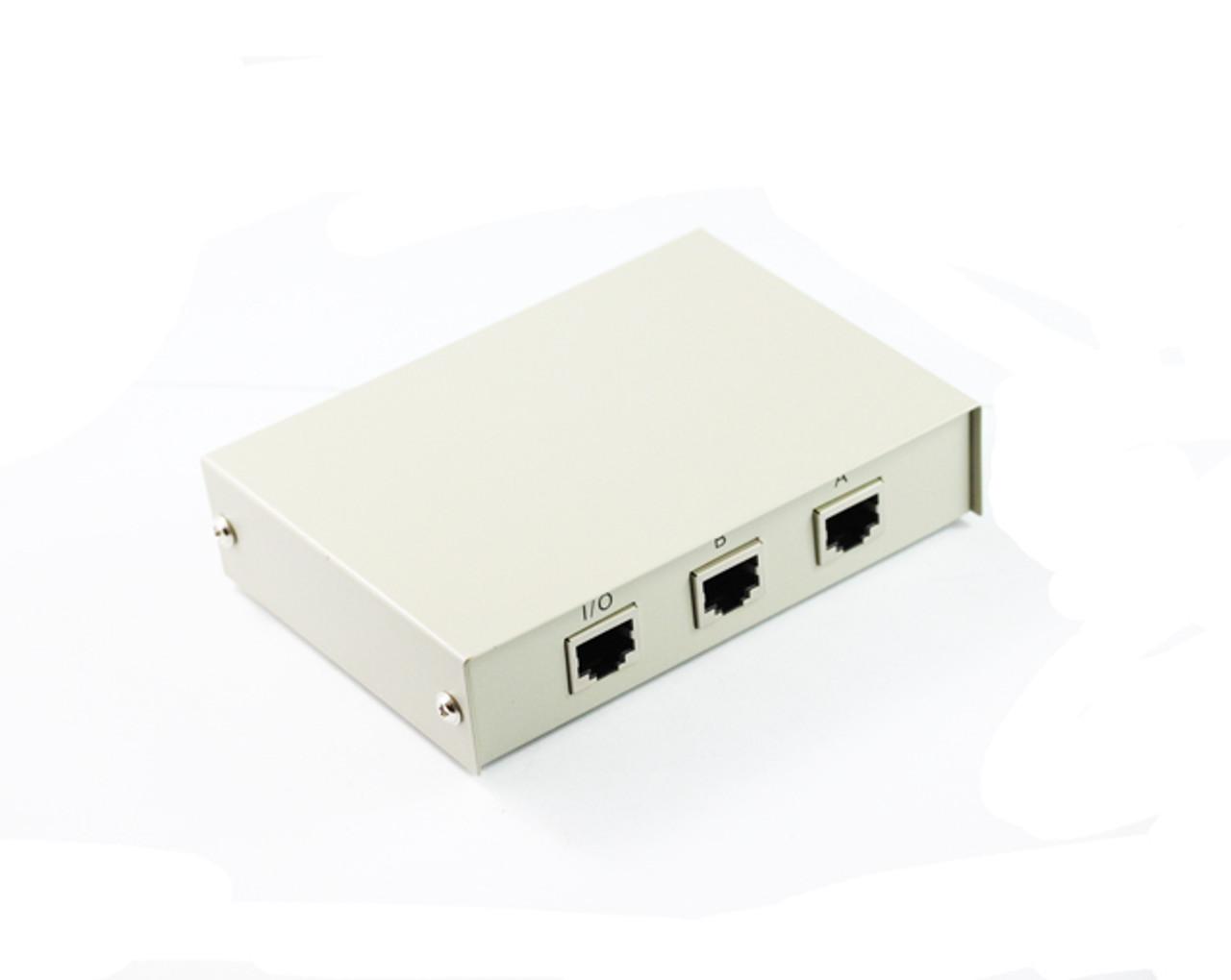 2 Port RJ45 Network Push Button Switch