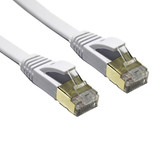 Product image for 5m White 10GbE Shielded CAT7 Network Cable - Flat | AusPCMarket Australia