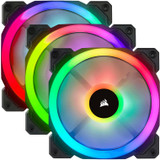 Product image for Corsair LL120 RGB 120mm Fans 3 Pack with Lighting Node Pro   AusPCMarket Australia