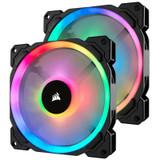 Product image for Corsair LL140 RGB 140mm Fans 2 Pack with Lighting Node Pro   AusPCMarket Australia