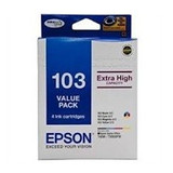 Image for Epson 103 High Yield Cartridges - Black, Magenta, Cyan, Yellow AusPCMarket