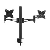 Product image for Brateck Dual (2) LCD Monitor Table Stand w/Arm & Desk Clamp Up to 23in | AusPCMarket Australia