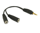 Product image for 10CM 3.5MM Splitter 1M To 2F | AusPCMarket Australia