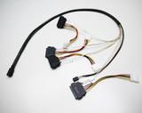 Product image for 1M Internal Mini SAS HD to 4xSAS29 And Power Cable | AusPCMarket Australia