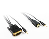 Product image for 1M DVI-D to HDMI Cable with 3.5mm Audio | AusPCMarket Australia