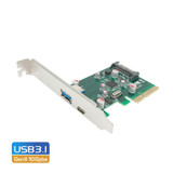Product image for Simplecom PCI-E to 2 Port USB 3.1 Gen II 10Gpbs Type-C and Type-A Card | AusPCMarket Australia