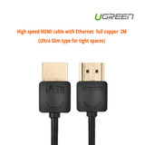 Product image for 2m UGreen High speed HDMI cable with Ethernet Slim | AusPCMarket Australia