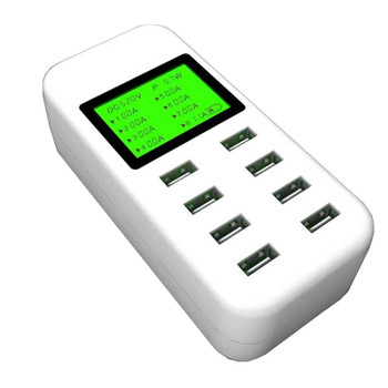 Product image for Simplecom CU880 8 Port Smart USB Charger with LCD Display | AusPCMarket Australia