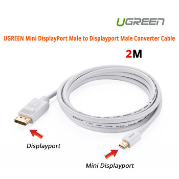 Product image for Mini DisplayPort Male to Displayport Male Converter Cable | AusPCMarket Australia
