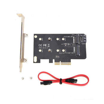 Product image for Simplecom EC412 Dual M.2 to PCI-E x4 and SATA Expansion Card | AusPCMarket Australia