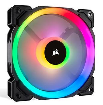 Product image for Corsair LL120 RGB 120mm Independent RGB PWM Fan Black | AusPCMarket Australia
