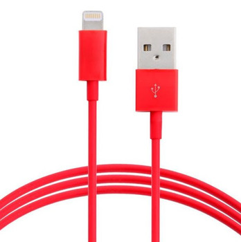 Product image for 1m USB Lightning Data Sync Charger Red Color Cable for iPhone 5/6 | AusPCMarket Australia