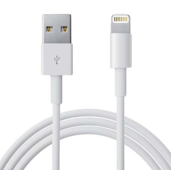 Product image for 1m USB Lightning Data Sync Charger White Color Cable for iPhone 5/6 | AusPCMarket Australia