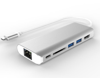 Product image for All-in-One Dock Thunderbolt USB-C 3.1 Type-C to HDMI+USB3.0+CardReader | AusPCMarket Australia