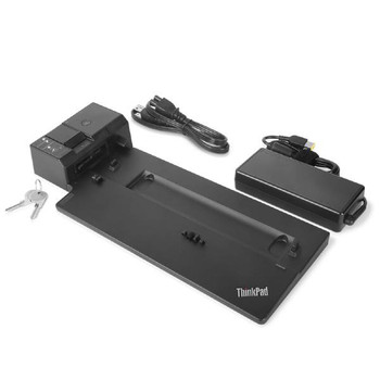Product image for Lenovo ThinkPad Ultra Docking Station 40AJ0135AU (Suits L480, L580, P52s,T480, R480s,T580, X1 Carbon G6, X280 Series) | AusPCMarket Australia
