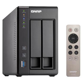 Qnap TS-251+-2G 2 Bay Diskless NAS Intel Celeron Quad Core 2.0GHz CPU 2GB RAM Product Image 2
