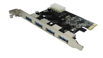 Product image for USB 3.0 4-Port PCI-E Expansion Card 4Pin Molex power | AusPCMarket Australia